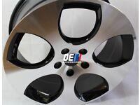 VW MK5 MK6 GOLF GTI 18INCH MONZA ALLOY WHEEL DIAMOND/BLACK INSERTS