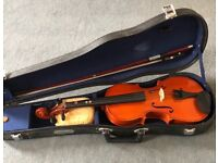 3/4 size student violin suitable for beginner