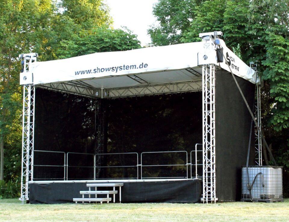 mobile Bühne Open-Air-Bühne Bühnendach 6x4m mieten in Sachsen-Anhalt - Gröningen