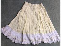 Girls NEXT cotton lemon coloured skirt 8 yrs 128cm