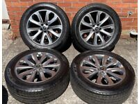 20'' GENUINE RANGE ROVER VOGUE LAND DISCOVERY 3 4 5 GREY SPORT ALLOY WHEELS TYRES ALLOYS 5X120
