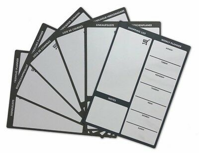 A4 Meal Planner By The Magnet Shop - Choose Your Language Magnetic Memo Board