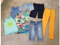 Girls bundle of spring summer clothes age 6-7
