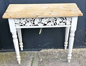 Shabby Chic pine side table