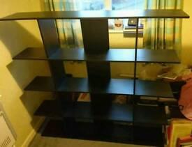 Black Wooden Display Shelving/ Book Shelve