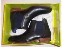 TED BAKER SIZE 10 CAMROON LEATHER BOOTS £60