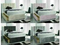 Instant Delivery Bed / Matching Button/diamante Headboard Single Double King Superking 3povhj