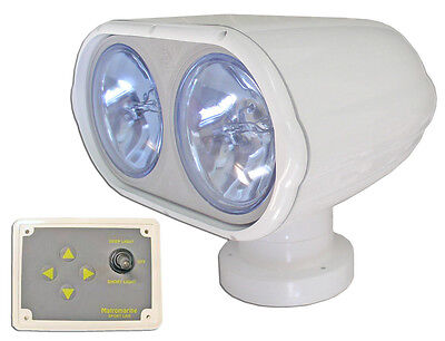 MARINE ELECTRIC 12V DOUBLE SEARCHLIGHT - SPOTLIGHT FOR BOATS & RV - FIVE OCEANS