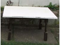 Retro coffee table solid wood shabby chic occasional table