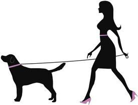 Woman dog walker
