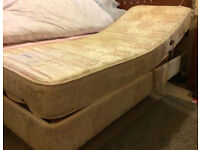 Relaxomatic Adjustable Electric Single Bed with Luxury Massage Mattress