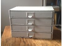 Mini chest of Drawers vintage rustic white