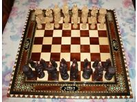 Robin Hood chess set excellent condition board not included £80