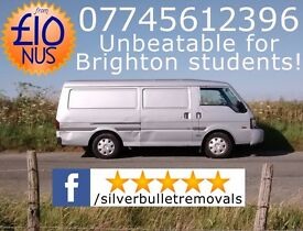 Silver Bullet, 5-Star Removals service, from £10 NUS! Brighton's best man & van hire for students!
