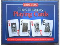 Dual Pack Of 'The Centenary' Picture Playing Cards (boxed)