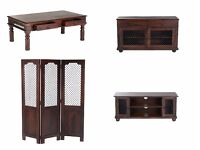 BRAND NEW Mumbai Solid Indian Wood Divider Sideboard TV Unit Coffee Table