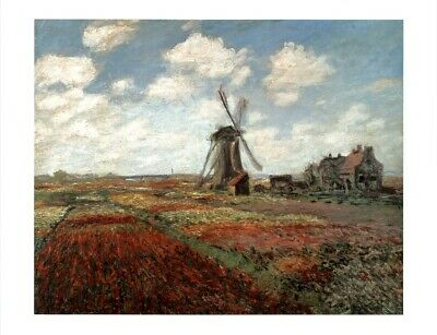 Claude Monet Field Of Tulips In Holland 1886 French Impressionist Oil Canvas Pai Claude Monet Impressionist Canvas