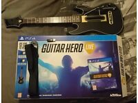 Playstation 4 Guitar Hero Live with Guitar Controller PS4 Mint Condition Hardly Used