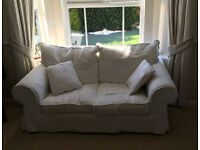 Three piece Lounge suite ( 3-2-1) Cream