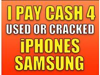 Cracked iPhones/Galaxies Wanted | Cash within 24H