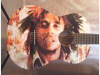 AMAZING BOB MARLEY - COOL AMAZING GUITAR FULL SIZE CLASSICAL GUITAR - BRAND NEW