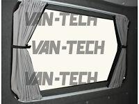 VW T5 Van Transporter Blackout Interior Curtain LWB Rear Quarter