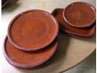 Selection of 6 terracotta serving dishes