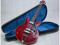 1960's Yamaha SA-70 Hollowbody Bass & Original Hard Case