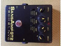 Tech21 Sansamp gt2 guitar tube amplifier emulator