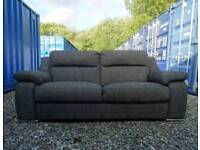 Sisi Italia Charcoal Grey 3 Seater Sofa+Armchair *Immaculate Condition*