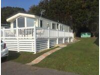 Caravan, static holiday home, Milford on Sea
