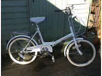VINTAGE RETRO FOLDING UNIVERSAL SHOPPER STYLE BIKE BICYCLE 3 SPEED UNISEX