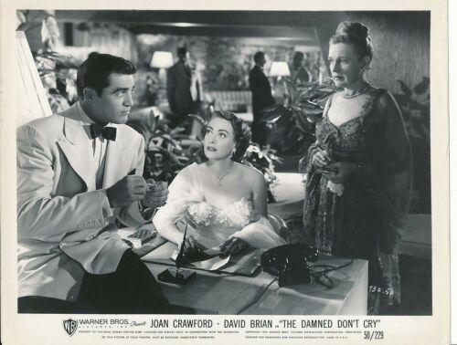 JOAN CRAWFORD STEVE COCHRAN Original Vintage THE DAMNED DONT CRY Film Noir Photo