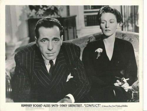 HUMPHREY BOGART Original Vintage 1945 CONFLICT Warner Bros. Film Noir Photo