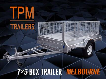 7X5 8x5 Welded Hot Dip Galvanised Trailers Ultra Long Drawbar