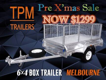 6x4 Trailer MASSIVE Sale! Hot Dipp Gal with 600mm Cage
