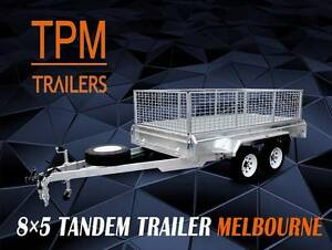 8x5 HD Tandem box Trailers  Hot Dip Gal  Ultra long drawbar Campbellfield Hume Area Preview
