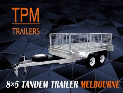 8x5 HD Tandem box Trailers  Hot Dip Gal  Ultra long drawbar