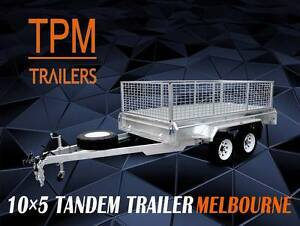 10x5 10x6 Tandem Trailers Hot Dip Gal Electric Brakes Campbellfield Hume Area Preview