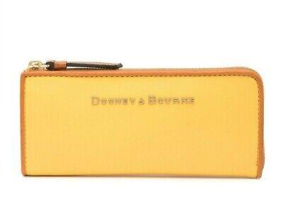 Dooney & Bourke Women's City Leather Zip Clutch Continental Wallet in DANDELION