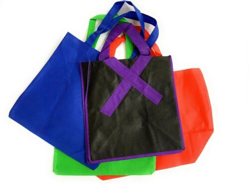 Misprint Tote Reusable Grocery Shopping Bags – Assorted 10 Pack