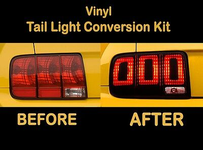 (2007 2008 2009 Ford Mustang Tail Light Conversion Kit to 2013 Shelby Cobra GT500)