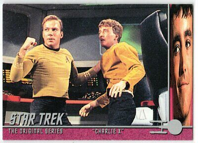 STAR TREK THE ORIGINAL SERIES 40TH ANNIVERSARY S 2 CHARLIE X EP8.3 INSERT CARD