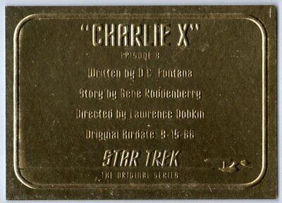 STAR TREK THE ORIGINAL SERIES 40TH ANNIVERSARY 2 CHARLIE X EP8.9 G8 INSERT CARD