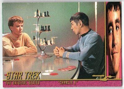 STAR TREK THE ORIGINAL SERIES 40TH ANNIVERSARY S 2 CHARLIE X EP8.5 INSERT CARD