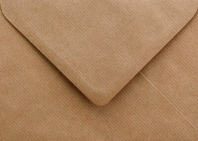 Ribbed Envelopes C5 100gsm Brown Recycled Gummed Flap Pack of 50 by Cranberry