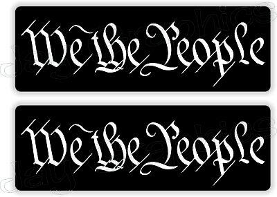 We The People 1x3 Patriotic Usa Hard Hat Stickers Patriotic Welder Helmet Decals