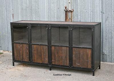 Vintage Industrial Display Case - Retail Fixture. Urbanmodern. Reclaimed Wood