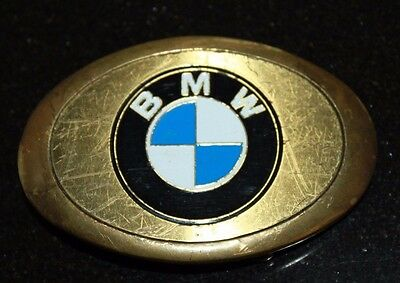 BMW BELT BUCKLE RARE 1983 BARON BUCKLE SOLID BRASS VINTAGE CAR COOL