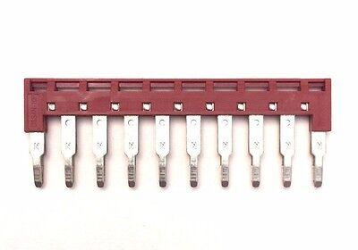 Din Rail Terminal Block Jumpers 5 Quantity Dss4n-10p Dinkle 10 Awg 10 Pole Dk4n